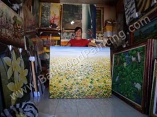 Toko Lukisan Kami : Terletak di sebelah utara parkir Pasar Seni Sukawati 2, Gianyar, Bali