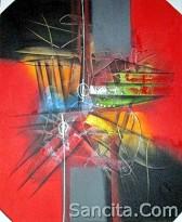 AT-01 Lukisan Abstrak