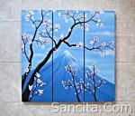 P3-01 Lukisan Minimalis Set / Panel Bunga Sakura