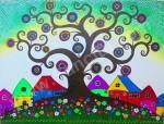 AR-02 Lukisan Rumah Aborigin