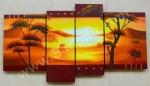 P4-20 Lukisan Panel Set Afrika