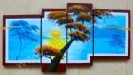 P4-21 Lukisan Panel Set Afrika