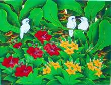 BR-04  Lukisan Burung Jalak Bali
