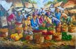 PS-021 Lukisan Palet Pasar Buah