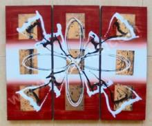 P3-09 Lukisan Minimalis Set / Panel Abstrak
