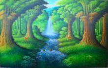 PM-01 Lukisan Hutan & Air Terjun
