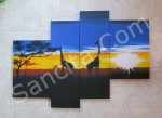 P4-19 Lukisan Panel Afrika