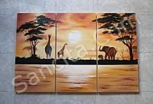 P3-13 Lukisan Minimalis Set / Panel Afrika