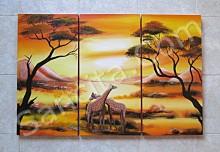 P3-15 Lukisan Minimalis Set / Panel Afrika