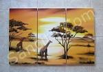 P3-16 Lukisan Minimalis Set / Panel Afrika