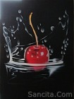 B-01 Lukisan Buah Cherry