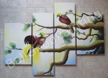 P4-18 Lukisan Panel Burung Jalak