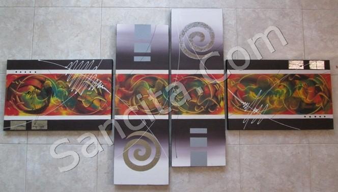 Kode : P4-24 Ukuran : 2 x 30x90 + 2 x40x60 cm