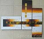 P3-07 Lukisan Minimalis Set / Panel Abstrak