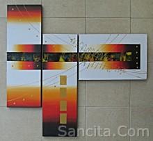 P3-08 Lukisan Panel Abstrak