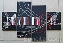 P4-28 Lukisan Minimalis Set / Panel Abstrak