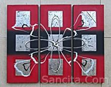 P3-10 Lukisan Minimalis Set / Panel Abstrak