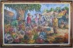PS-024 Lukisan Palet Pasar Bunga
