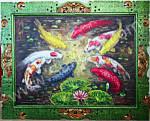 K-14 Lukisan Ikan Koi Sembilan