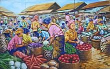 PS-026 Lukisan Pasar Sayur