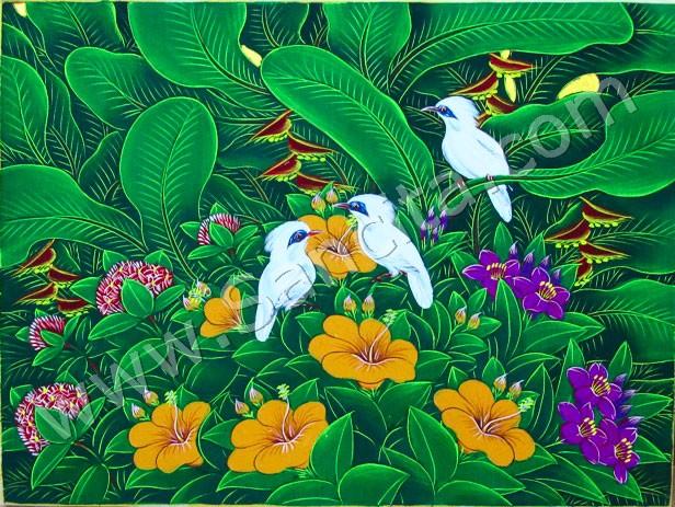Diskon 20% Lukisan Burung Jalak Bali - Sancita