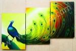 P3-19 Lukisan Panel Burung Merak