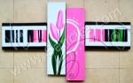P4-30 Lukisan Minimalis Set / Panel Bunga Tulip