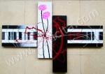 P4-23 Lukisan Minimalis Set / Panel Set Abstrak