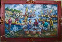 PS-022 Lukisan Pasar Ikan