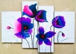 P4-01 Lukisan Minimalis Set / Panel Set Bunga Poppy
