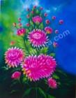 BG-03 Lukisan Bunga Dahlia