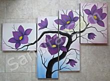 P4-34 Lukisan Minimalis Set / Panel Bunga Minimalis
