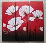 P3-21 Lukisan Minimalis Set / Panel Bunga Minimalis