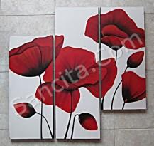 P3-22 Lukisan Minimalis Set / Panel Bunga Minimalis