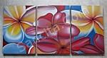 P3-23 Lukisan Minimalis Set / Panel Bunga Kamboja
