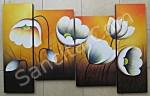 P4-36 Lukisan Minimalis Set / Panel Bunga Sallas