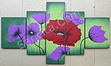P5-03 Lukisan Minimalis Set / Panel Bunga Minimalis