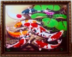 K-10 Lukisan Ikan Koi 9 Ekor