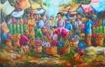 PS-025 Lukisan Pasar Bunga