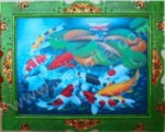 K-01 Lukisan Ikan Koi