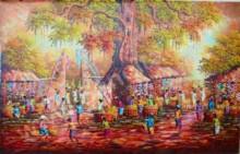 PS-007 Lukisan Pasar Tradisional
