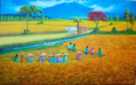 PD-021 Lukisan Panen Padi