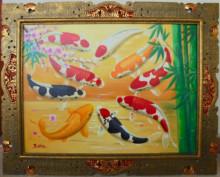 K-31 Lukisan Ikan Koi Bawa Hoki