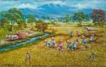 PD-009 Lukisan Panen Padi