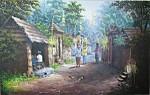 KP-07 Lukisan Kampung Bali Jaman Dulu