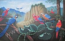 BR-05 Lukisan Burung Nuri
