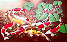 K-07 Lukisan Ikan Koi 9 Ekor