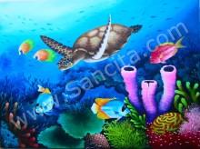 PM-045 Lukisan Pemandangan Bawah Laut