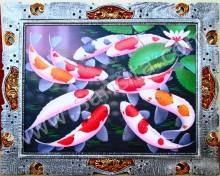 K-09 Lukisan Ikan Koi Bawa Hoki