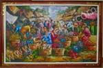PS-027 Lukisan Pasar Bunga